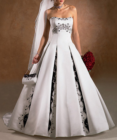 Black  White Maxi Dress on Black And White Wedding Dress