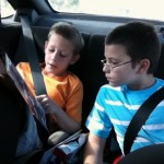 My Boys Reading On The Road – Wordless Wednesday