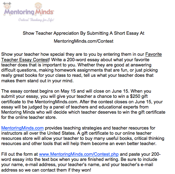 Teacher day essay