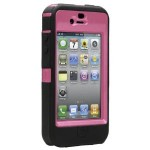 pink and black otterbox defender iphone 4 case