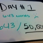 nanowrimo day 1 featured