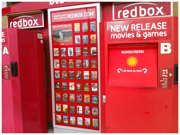 ... and then on a shopping trip I stopped by the nearest Redbox location